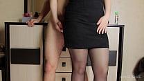 Thigh Fuck Teacher and Cum in her Panties