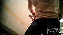 Successful voyeur video of the toilet. View fro...