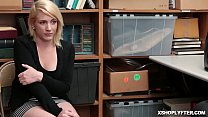 Shoplyfter Fallon bend over her ass and her swe...