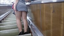 Upskirt in subway