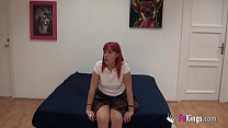 Pink haired teen has a casting with Jordi