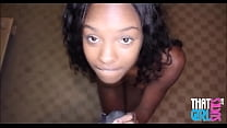 Young Petite Black Ebony Strips Down And Gives ...