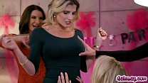 Horny Moms pleasing Rachael Cavalli as they str...