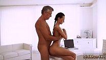 Teen stretched by black cock Liliane model ebon...