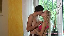 Teen couple too horny to wait Thumbnail