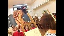 JAV naked school student teacher art class sex ...