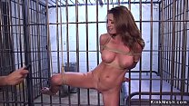Imprisoned big tits brunette tourist Silvia Sai...