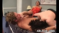 Naked minx gets rough plowing