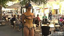 Beautiful Spanish model disgraced and walked in...