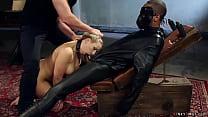 Big boobs blonde MILf slave Angel Allwood is ch...