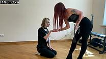 Lesbian BDSM - Cruel Goddess In Leggings Traine...
