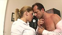 Watch Stunning secetary Brooklyn Lee_with big melons helps her employer to de-stress from work preview