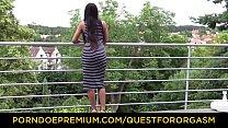 QUEST FOR ORGASM - Slim Asian cutie erotic mast...
