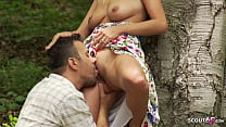 Real German Teen Couple Romantic Outdoor Sex on...