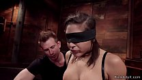 Busty brunette teen slave Abella Danger is gagg...