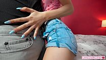 Petite stepsis comforted by her stepbro when he...
