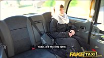 Fake Taxi Drivers thick cock cums all over hairy bush's Thumb