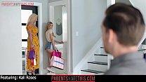 Petite blonde stepsis peeked on by stepbro unti...