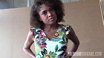 Slender Brazilian babe Luna Corazon performs in...