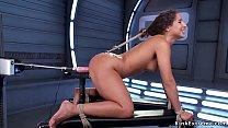 Sexy brunette teen Abella Danger in rope bondag...