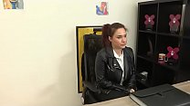 Yasmina had come to a work interview 'cause she...