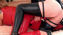 Lesbian hot strap-on sex domination