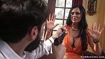 Robber Tommy Pistol breaks in house of huge tit...