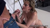 Mature Lady Sonia sucks and jerks off a hard cock's Thumb