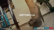 Sexy Antonella is dressed in a truly sexy way w...