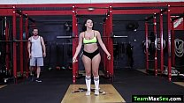 Latina Valentina Jewels is on the gym working h...