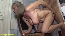 gray haired big natural breast 83 years old gra...