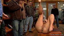 Mistress makes big butt and big tits blonde sla...