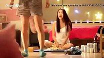 White amateur beautiful Korean girl strip tape.