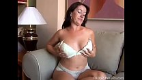 Sexy old spunker with nice big tits fucks her s...