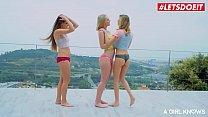 LETSDOEIT - Sensual Lesbian Threesome On Pussy ...