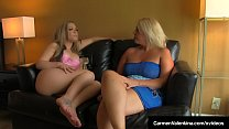 Dirty Blonde Babe Carmen Valentina gets her tig...