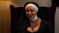 Nasty Nun Makes You Jerk Off Your Little Dick F...
