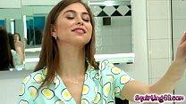 Riley Reid waits eagerly for her secret friend ...