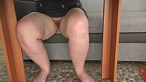 The lover put a hidden camera to watch fat thig...