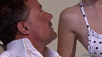 His cheating girlfriend seducing older man