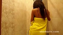 Thin and fit teen and nubile Russian girl writh...