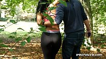 Horny Hacker gets a sloppy blowjob by hot brune...
