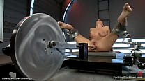 Huge boobs brunette solo MILF Ariel X undresses...