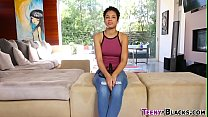Black amateur teen rides cock pov style and get...