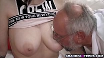 Hot babe Sheril Blossom begs grandpa to fuck he...