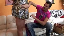 Mature BBW Gets Drilled By Her Young BF