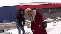 Busty Granny Effie Licking Teen Pussy