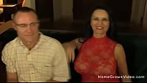Mature wife with huge tits gets fucked by a younger man in front of her husband Thumbnail