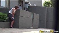 Asian babe gushes urine