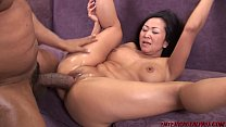 Asian Snatch Split by Big Black Dick